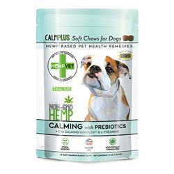 Trial Size CALMPLUS with Prebiotics, Calming, Digestive & Brain Health Support Supplement  (15 chews/bag)