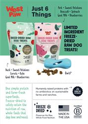 West Paw Superfood Freeze-dried Treat Sign