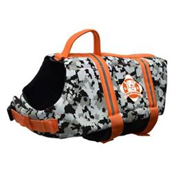 Paws Aboard Dog Life Jacket - ORANGE CAMO NEPOPRENE