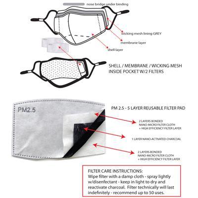 Fashion Solid Color Face Masks - Adjustable, Washable, Reusable Filters