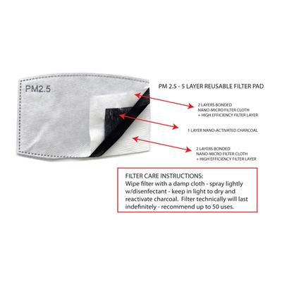 Fashion Face Mask Reusable Filter Replacement Pack - 10 per pack