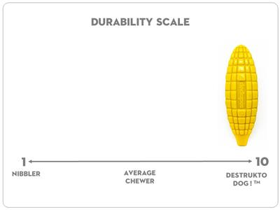 SodaPup Nylon Corn on the Cob Ultra Durable Dog Chew Toy for Aggressive Chewers, Guaranteed Tough, Non-Toxic, Reduces Boredom and Problem Chewing, Made in USA, Yellow