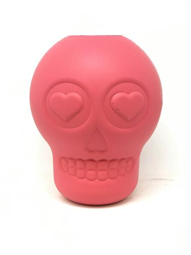 MuttsKickButt by SodaPup - Natural Rubber Sugar Skull Dog Chew Toy and Treat Dispenser for Aggressive Chewers, Guaranteed Tough, Made in USA, Black, Large - COPY