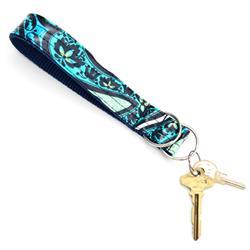 Lark Laminated Cotton Wristlet Key Fob