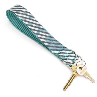 Agave Laminated Cotton Wristlet Key Fob