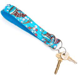 Bloom Laminated Cotton Wristlet Key Fob
