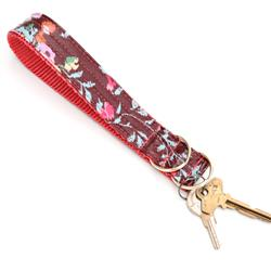 Posey Laminated Cotton Wristlet Key Fob