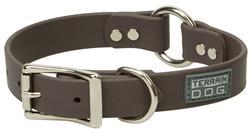 Brahma Webb® Center-Ring Dog Collar or Leash - Brown
