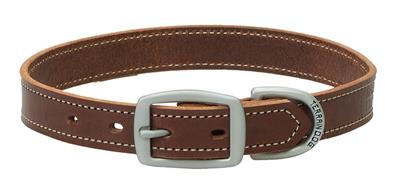 Bridle Leather Straight Dog Collar/Leash - Brown