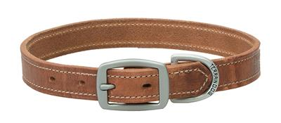 Hermann Oak® Leather Straight Dog Collar/Leash - Russet