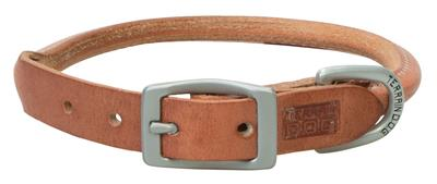 Hermann Oak® Leather Rolled Dog Collar/Leash - Russet