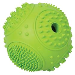 Green Sphere Rubber Treat Ball Toy