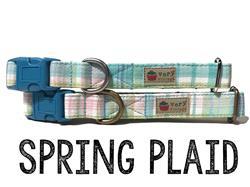 Spring Plaid – Organic Cotton Collars & Leashes