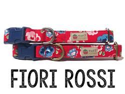Fiori Rossi – Organic Cotton Collars & Leashes