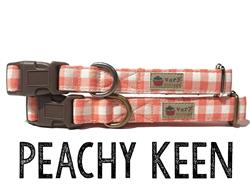 Peachy Keen – Organic Cotton Collars & Leashes