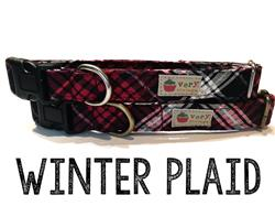 Winter Plaid – Organic Cotton Collars & Leashes