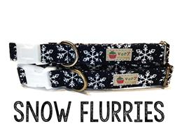 Snow Flurries – Organic Cotton Collars & Leashes