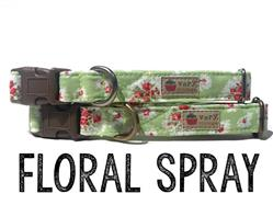 Floral Spray – Organic Cotton Collars & Leashes