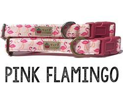 Pink Flamingo – Organic Cotton Collars & Leashes