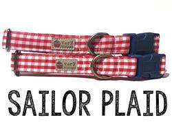 Sailor Plaid – Organic Cotton Collars & Leashes
