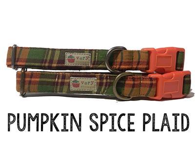 Pumpkin Spice Plaid – Organic Cotton Collars & Leashes