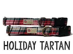 Holiday Tartan – Organic Cotton Collars & Leashes
