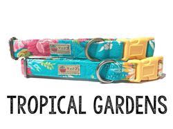 Tropical Gardens – Organic Cotton Collars & Leashes