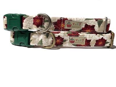 Rustic Poinsettia – Organic Cotton Collars & Leashes