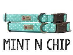 Mint n Chip – Organic Cotton Collars & Leashes