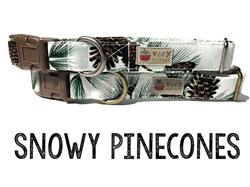 Snowy Pinecones – Organic Cotton Collars & Leashes