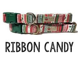 Ribbon Candy – Organic Cotton Collars & Leashes