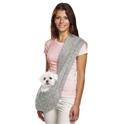 Grey Reversible Pet Sling Dog Carrier | Pets up to 8 lbs