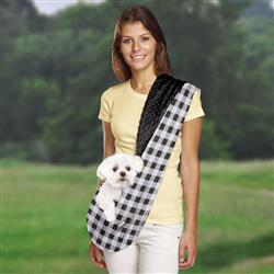 Sling | Black Reversible Pet Sling Dog Carrier | Pets up to 8 lbs