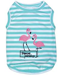 Flamingos Dog T-Shirt