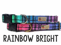 Rainbow Bright – Organic Cotton Collars & Leashes