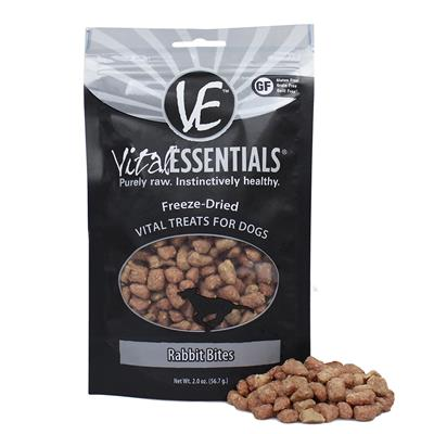 Freeze Dried Rabbit Bites Dog Treats by Vital Essentials
