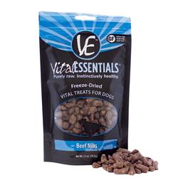 Freeze Dried Beef Nibs Dog Treats by Vital Essentials