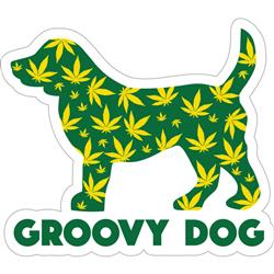 "Groovy Dog - 3"" Sticker"