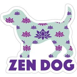 "Zen Dog - 3"" Sticker"