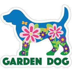"Garden Dog - 3"" Sticker"