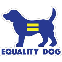 "Equality Dog - 3"" Sticker"