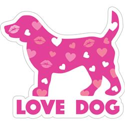 "Love Dog - 3"" Sticker"