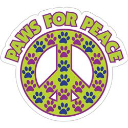 "Paws for Peace - 3"" Sticker"