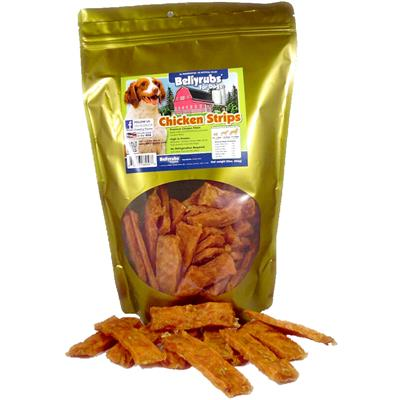 Chewy Style Bellyrubs Chicken Strips - All Natural Made In The USA