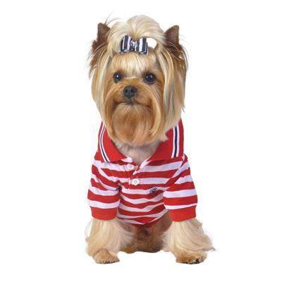 Red Nautical Stripe Polo Shirt