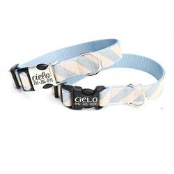 Cielo Blue Rifle Paper Co Striped Canvas Collar