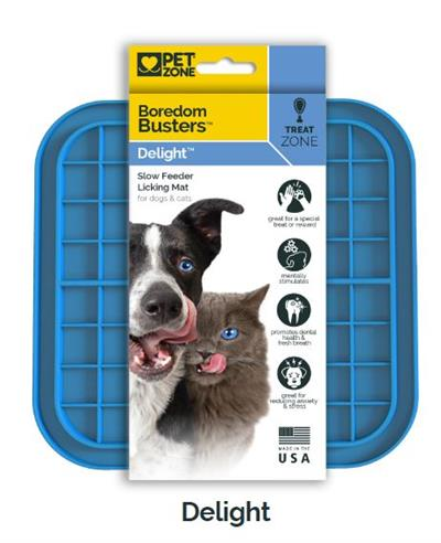 Pet Zone Boredom Busterz Blue Delight - 12 Pack PDQ Counter Display - MADE IN USA!