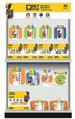 """PET ZONE BOREDOM BUSTERZ LARGE 11"""" X 11"""" ORANGE INDULGE L/XL SLOW FEEDER LICKING MAT MADE IN USA CASE OF 12 (JUST $7.00 EACH!!) (COMING SOON AS 12 PIECE PDQ COUNTER DISPLAY #14620PDQ) BE SURE TO WATCH THE VIDEO!"""