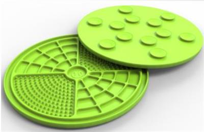 PET ZONE BOREDOM BUSTERS GREEN ENGAGE WITH 12 SUCTION CUPS!- MADE IN USA - CASE OF 12 ($5.00 EACH)