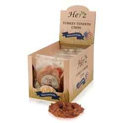 Herz 76g USA Turkey Tendon Pretzel, Large - Display Box (10)